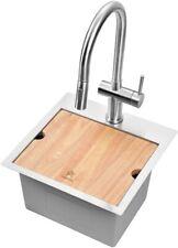 STARSTAR Workstation Top Mount/Drop-in Stainless Single Bowl Kitchen/Bar Sink