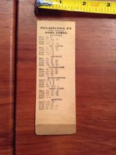 1953 Philadelphia Athletics Official Schedule Ticket American League Spalding Sports Mem, Cards & Fan Shop Vintage Sports Memorabilia