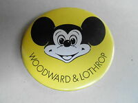 "VINTAGE 3"" PROMO PINBACK BUTTON #92-153 - DISNEY - WOODWARD AND LOTHROP"