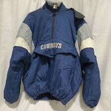 New listing Vintage 90s Dallas Cowboys Starter Puffer Parka Hoodie Pullover NFL Jacket Sz L