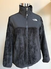 THE NORTH FACE Fuzzy Fleece Zip Front Black Size GIRLS XL/TG 18