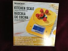 SILVER CREST KITCHEN SCALE - W/Tempered Glass Weighing Plate NEW