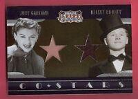 JUDY GARLAND & MICKEY ROONEY WORN RELIC SWATCH MATERIAL CARD 2009 AMERICANA #250