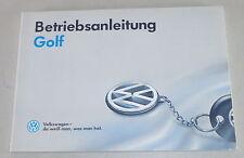 Instrucciones Servicio VW Golf 3/ III De 07/1992