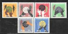 Poland 1963 13Th European Men'S Basketball Championship Sc # 1159-1164 Mnh