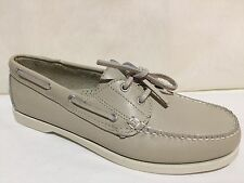 GH BASS & CO OUTDOORS T 368 BEIGE LEATHER BOAT DECK LOAFERS SHOES MENS SZ 10 M