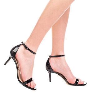 SAM EDELMAN Ankle Strap Sandals EU 39.5 UK 7.5 US 9.5 Varnished Pin Buckle