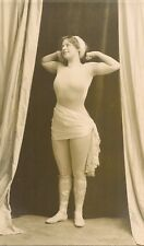 SEMI NUDE EDWARDIAN LADY RP  ARMS RAISED