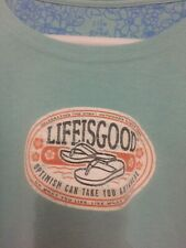 "LIFE IS GOOD WOMENS LIGHT GREEN ""Optimism"" L Short Sleeve T-ShiRTS"