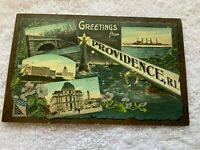 1900s Rhode Island Postcard - Greetings from Providence
