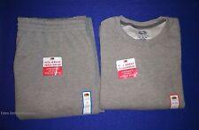 NWT Fruit of the Loom Men's Fleece Elastic Bottom Pants & Sweatshirt Size: 2XL