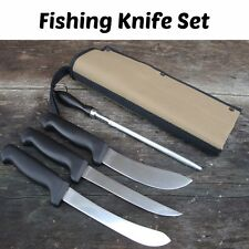 NEW Stainless Steel Fishing Knife Set Filleting Boning Skinning Quality Blade