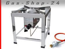 10 kW Edelstahl Profi Hockerkocher Gaskocher Gasherd Kocher Chinaherd Gasbrenner