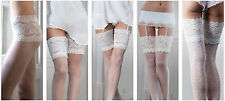 BRIDAL TIGHTS, HOLD UPS, STOCKINGS IN IVORY OR WHITE VARIOUS SIZES