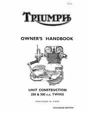Triumph Owners Manual Book 1966 Tiger 90 T90 & 1966 Tiger 100 T100/SS