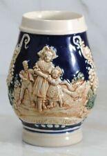 Vintage German Beer Stein Made in Germany by Gerz, 1960s, Hand Painted Souvenir