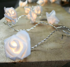 Lichterkette 10er LED Rosen Hochzeit Tischdeko warmweiss Batterie Lichtgirlande