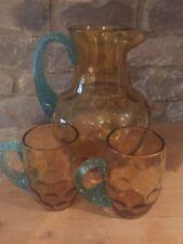 Blue Art Glassware Victorian Date-Lined Glass