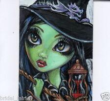 Aceo PRINT Wicked Witch Wzard of Oz zombie big eyes #96 art Liquid Acid Eyes