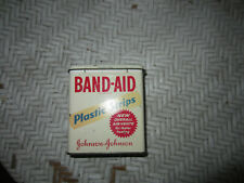 VINTAGE 1960's Band-Aid Plastic Strips Tin Container USA