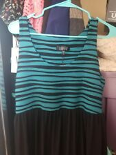 NWT LBISSE MAXI DRESS BLACK TEAL SLEEVELESS SUMMER MOMMY & ME