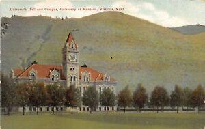 H70/ Missoula Montana Postcard c1910  University Hall Campus 178