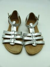 Girls Marks & Spencer Leather Silver Gladiator Strappy SandalrsUK Infant 11