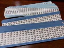BRADY  WM146 Qty of 43 per Lot Wire marker Labels -  No 146   150/card  BRADY  L