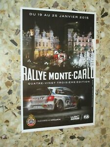 AFFICHE ORIGINALE 83 eme RALLYE MONTE CARLO 2015  WORLD RALLY ACM