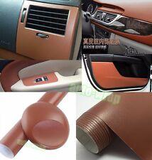 "Bidding - 12"" x 60"" Brown Car Interior Furniture Leather Vinyl Wrap Sticker BO"