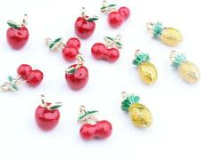 12pcs cherry pineapple mix Metal Charms pendants DIY Jewellery Making crafts