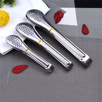 Stainless Steel  Salad Ice Tong Food Cooking Kitchen Serving Gadget Tool YJ