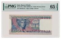 ITALY banknote 50.000 Lire 1980 PMG MS 65 EPQ Gem Uncirculated