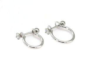 Cartilage Ring Stainless Steel Barbell Hoop Helix Ear Cuff Screw Ball Piercing