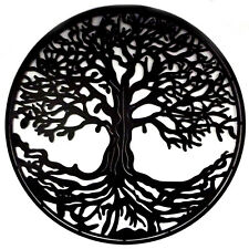 Old Winter Tree of Life Metal Wall Art Laser Cut Iron Sculpture Decor Black 80cm