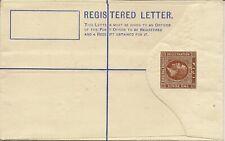 FIJI 1920 KGV 2d+2d REGISTERED ENVELOPE SPECIMEN