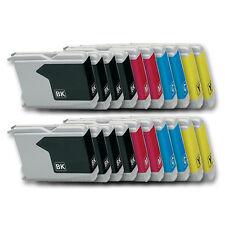 20 Druckerpatronen kompatibel mit BROTHER DCP-130C DCP-135C DCP-150C DCP-153C