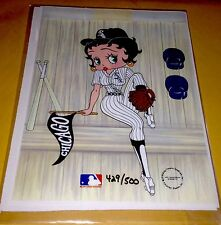 Betty Boop Chicago White Sox  Serial Cel Bullpen Ace Rare 1993 with COA