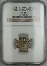 1508-44 France 2Blanc Silver Coin Roberts-9437 NGC XF-45 AKR
