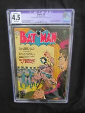 RARE VINTAGE GOLDEN AGE BATMAN #85 - CGC 4.5  - BATMAN'S COSTUME OF DOOM - 1954