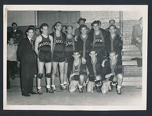 1930 PATERSON CRESCENTS Vintage Early ABL Basketball Team Photo HONEY RUSSELL
