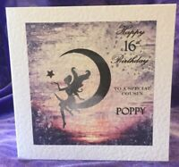 Personalised Fairy 9th 12th 18th 21st Birthday Card Daughter Niece Granddaughter