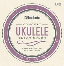 D'Addario EJ65C Pro-Arté Custom Extruded Ukulele Strings Concert