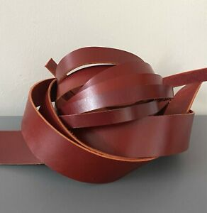 200 cm long Red Brown Leather Strap Belt Blank Strap various width 2.5 mm thick