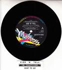 "THE CHANTOOZIES Kiss 'N' Tell 7"" 45 rpm vinyl record + juke box title strip"