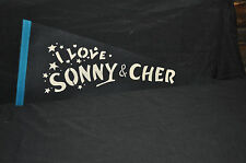 """1960'S SONNY AND CHER  """"I LOVE SONNY AND CHER"""" BLUE WITH AQUA TRIM MINT! VINTAGE"""