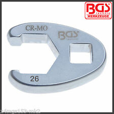 "BGS - 26 mm - 1/2"" Drive - Crowfoot Spanner - 26 mm - Pro Range - 1757-26"