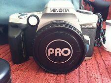 Minolta Maxxum 5 w/ ProMaster Specrum 7 1.7x  35mm Film Camera Bundle Extras