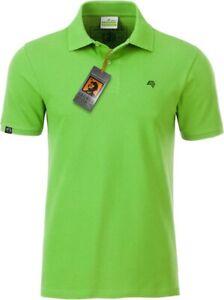 JAN 8010 Bio Baumwolle Basic Polo Shirt Männer Organic COMPANIEER Grün Lime C ..