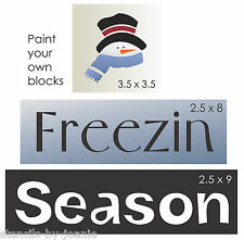 3 pc Stencil Freezing Season Frosty Snowman Winter Country DIY Craft Art Signs